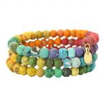 Kantha Rainbow Spiral Bracelet - 29 €