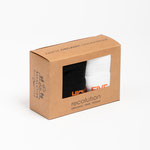 Socken Box #HIGHFIVE – black / white / warm orange - € 25,00