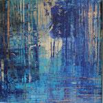 KERSTIN SOKOLL, blue 2.0, 2017, J001, 100 x 100 cm, SOLD