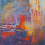 KERSTIN SOKOLL, sundown/Abenddämmerung, 2020, O014, 120 x 100 cm, SOLD