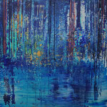 KERSTIN SOKOLL, blue 4.0, 2020, I006, 80 x 80 cm, SOLD