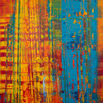 KERSTIN SOKOLL, Stripes -No Stars, 2020, O026, 120 x 100 cm