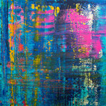 KERSTIN SOKOLL, Purple Rain, 2020, J027, 100 x 100 cm, SOLD