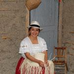 Herstellung von Panamahüten, die eigentlich aus Ecuador kommen