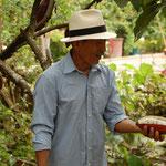Ein Kakaobauer