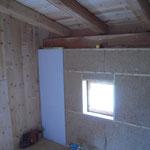Isolation en laine de bois & chanvre dans la partie la plus récente, doublage en Fermacell