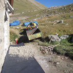 Les abords du chalets ont été repris et draînés.