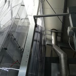 PVC - Lamellenvorhang mit Gestell