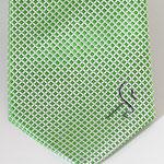 Logo corporativo en corbata de seda en pala