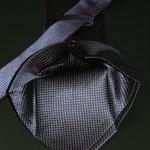 Corbata siete pliegues seda azul