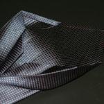 Corbata siete pliegues seda marino