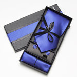 Caja regalo corbata seda y panuelo bolsillo