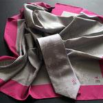 Impresion con moldes,Pañuelos de twill de seda para lineas aereas FAI