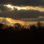Coucher de soleil dans les terres