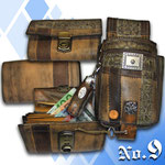 Geldbörse Kellner rustikal derb antike Optik