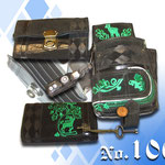 GeldbörseHalter sowie Geldtasche aus alter bestickten Trachtenlederhos´n gemacht von Kaiser Tracht