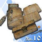 Kellnergeldbeutel und Halter aus alter besticken Lederhosen angefertigt Kaiser Tracht München
