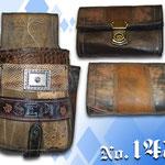 Kellnergeldtasche mit Namen punziert auf rustikal eingefärbt mit alter bayrischer Lederhosen Kaiser Tracht München