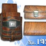 kellnergeldtasche Geldbeutel mit Holster mit Leder im antiken Holzdesign Hosenträger Kaiser Tracht München
