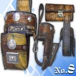 Revolverholster alte Lederhosen und andere Leder Kaiser Tracht München