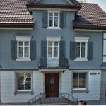 Neue Fassade Haus Paul Bruhin Wangen erstellt mit SwissPearl Eternit Dani Vogt D. Vogt Holzbau GmbH CH 8855 Wangen SZ