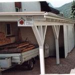 Dächer von Unterständen und Windfängen kontrollieren Dachrinnen reinigen Dani Vogt D. Vogt Holzbau GmbH  Allmeindstrasse 27 8855 Wangen