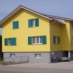 Fertig sanierte Fassade aufgefrischt Dani Vogt D. Vogt Holzbau GmbH CH 8855 Wangen SZ