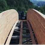 Auch Spanholzbrücke von grosser Spannweite Dani Vogt D. Vogt Holzbau GmbH  Allmeindstrasse 27 8855 Wangen