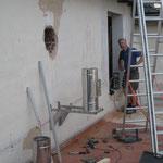 Nirokonsole Befestigung vor EPS-Dämmung