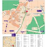 Création plan de ville pour Abribus / LRS • © recreacom.fr - Christophe Houlès cartographe