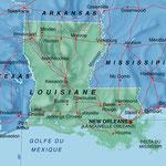 Louisiane • Création carte touristique / Édition : La Manufacture © recreacom.fr - Studio de création Christophe Houlès