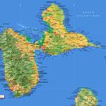 La Guadeloupe • Création carte touristique / Édition : Les Créations du Pélican • © recreacom.fr - Studio de création Christophe Houlès