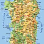 La Sardaigne • Création carte touristique / Édition : Les Créations du Pélican • © recreacom.fr - Studio de création Christophe Houlès