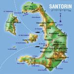 Santorin • Création carte touristique / Édition : Les Créations du Pélican • © recreacom.fr - Studio de création Christophe Houlès