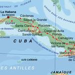 Cuba • Création carte touristique / Édition : La Manufacture • © recreacom.fr - Studio de création Christophe Houlès