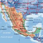 Mexique • Création carte touristique / Édition : La Manufacture • © recreacom.fr - Studio de création Christophe Houlès