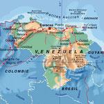Vénézuela • Création carte touristique / Édition : La Manufacture • © recreacom.fr - Studio de création Christophe Houlès