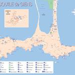 Presqu'île de Giens (Hyères) • Création carte touristique / LRS • © recreacom.fr Studio de création Christophe Houlès