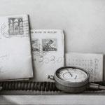 Cartas y Teléfono 2014 || Técnica mixta sobre tabla, 19X50 cm.
