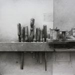 Herramental II 2013 || Técnica mixta sobre tabla, 50 X57 cm.