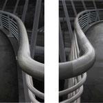 Dos vías 2012 || Óleo sobre tabla, dos piezas de 75X95 cm.