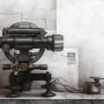 Teodolito 2011 || Técnica mixta sobre tabla, 32X80 cm.