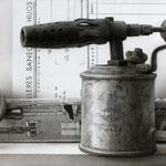 Objetos IV 2014 || Técnica mixta sobre tabla, 19X50 cm.