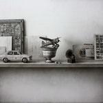 Objetos olvidados 2013 || Técnica mixta sobre tabla, 65X70 cm.