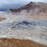 Arrivée à Hverir : on retrouve les couleurs du Landmannalaugar