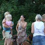 Chantal, Nicole mit Elina, Marion, Meret und Nadine