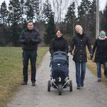 Andy, Chantal und Maleah, Birgit und Meret