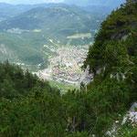Sichtfenster hinunter nach Mittenwald