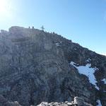 Abstieg vom Gipfel.Wegpassage