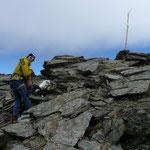 Am Gipfel der Hinteren Schranspitze
